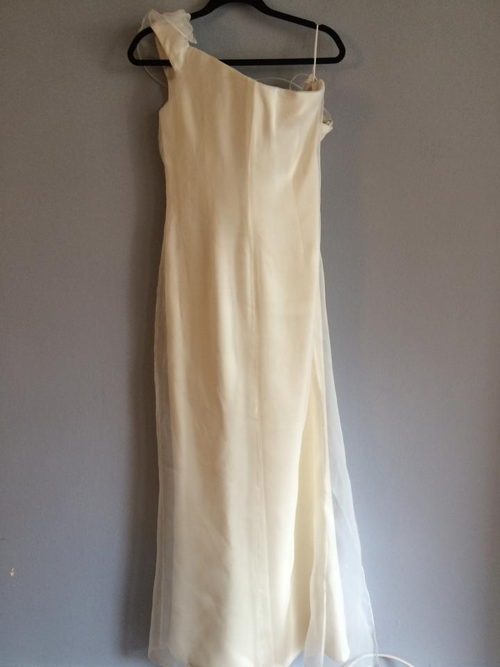 Giorgio Armani White One Shoulder Gown Long Formal Dress Size 10 ...