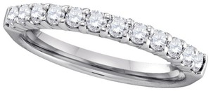 Ladies Luxury Designer 14k White Gold 0.50 Cttw Round Diamond Accu Set Fashion Wedding Band