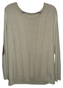 Coincidence & Chance Heavy Knit Urban Outfitter Boho Elbow Patches Retro Sweater