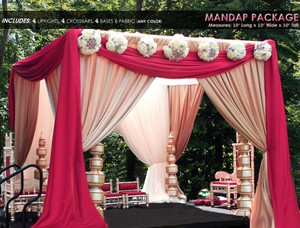Canopy Drape And Pipe Kit 10'x10'x10' You Choose Your Colors Chuppah Mandap Canopy Wedding Reception Banquet Party Event