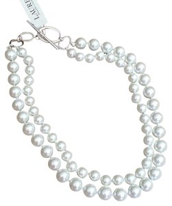 Ralph Lauren Glass Pearl Double Strand Necklace