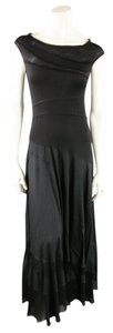 Donna Karan Striped Patchwork Goth Maxi Day Or Night Dress