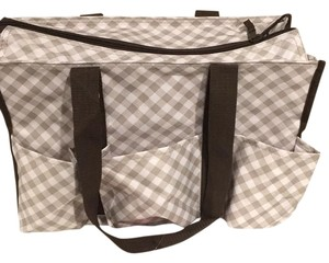 Other Tote in White & Brown Checkered
