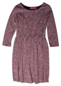 Other short dress Dusty Rose Skater Rose Print Sweater on Tradesy
