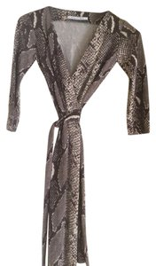 Diane von Furstenberg short dress Python Snake Print/neutrals Wrap Classic Sexy on Tradesy
