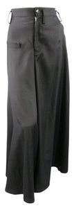 Yohji Yamamoto Cropped Extreme Drop Crotch Japanese Wide Leg Pants Black