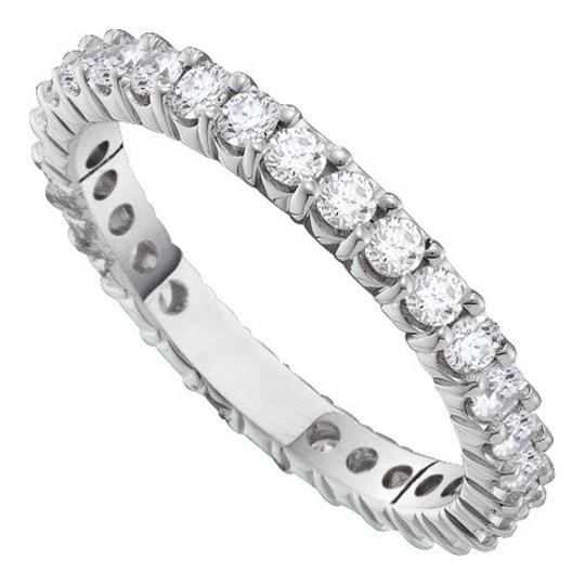 Luxury Designer 14k White Gold 0.50 Cttw Diamond Accu Set Fashion Eternity Wedding Band