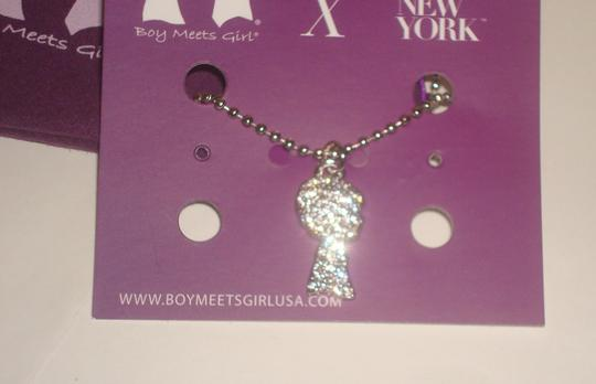 Boy Meets Girl x Jimmy Crystal New York Boy Meets Girl x Jimmy Crystal New York - Boy Silhouette Silver Pendant Chain Necklace