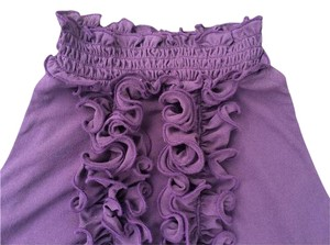 The Limited High-neck Royal Victorian Neckline Victorian Hi-neck Fitted Top Eggplant