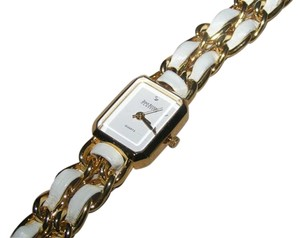 Joan Rivers Joan Rivers Classic Quartz White Leather Gold Watch Free Shipping