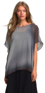 Eileen Fisher Sheer Flowy Top Moon