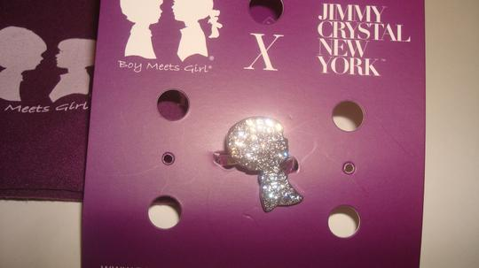 Boy Meets Girl x Jimmy Crystal New York Boy Meets Girl x Jimmy Crystal New York - Boy Silhouette Adjustable Size Silver Ring