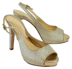 Kate Spade Silver Glitter Peep Toe Slingbacks Sandals