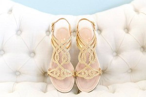 Kate Spade Wedding Gold Rope Gladiator Flat Sandal Sandals