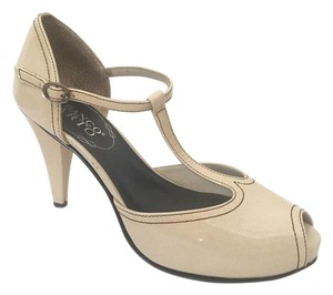 Franco Sarto Peep Toe Open Toe Cream Platforms