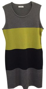 Calvin Klein short dress Grays and chartreuse blocked on Tradesy