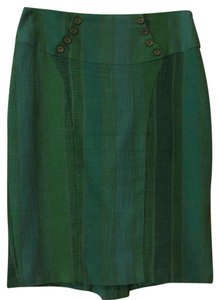 Anthropologie Skirt Green, turquoise and golden tan