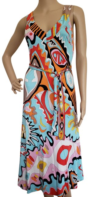 Preload https://img-static.tradesy.com/item/16879501/emilio-pucci-multicolor-mid-length-cocktail-dress-size-8-m-0-3-650-650.jpg