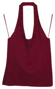 Tommy Bahama Burgundy Halter Top