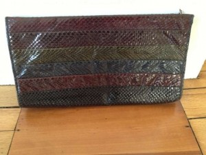 Anne Klein for Calderon Snakeskin Vintage Multi Clutch