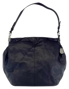 Cole Haan Large Black Leather Hobo Bag