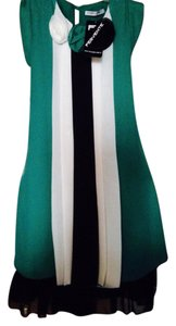 Other short dress Green/black/white on Tradesy