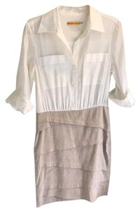 Alice + Olivia short dress White Button Down Mini on Tradesy