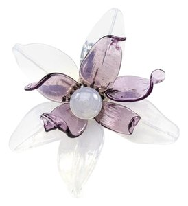 Chanel Chanel Extremely Rare Purple Glass Floral Brooch