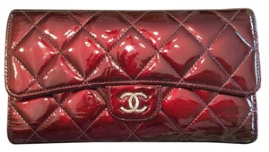 Chanel Chanel Patent Trifold Wallet