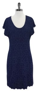 Diane von Furstenberg short dress Blue Floral Lace on Tradesy