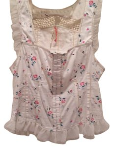 Free People Top Cream and floral