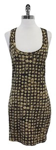 Elizabeth and James short dress Tan Brown Geo Print on Tradesy