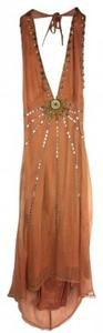 Pumpkin Orange Maxi Dress by Lotta Stensson
