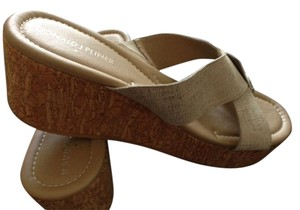 Donald J. Pliner Wedge Tan Sandals