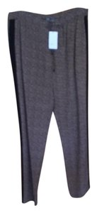 Vince Relaxed Pants Brown print with black stripe