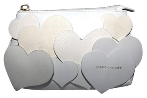 Marc Jacobs Leather Monogram white Clutch