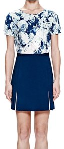 Misha Collection Mini Skirt Blue White