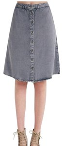 Wet Seal Frontbotton Deniem Skirt grey