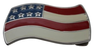 Other Men Women United States of America USA Flag Army Red Blue Silver Metal Belt Buckle