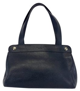 Kate Spade Black Leather Double Handle Hobo Bag