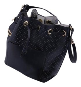 Michael Kors Navy/white Tote in Navy/White/Gold