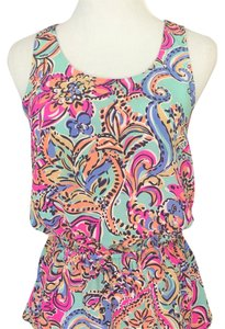 Lilly Pulitzer Top Aqua print multi