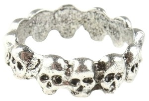 Other 1 Pc New Antique Silver Skull Heads Charms Zinc Alloy Ring