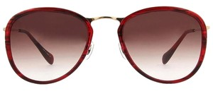 Oliver Peoples OLIVER PEOPLES J GOLD OV 1099 ST 5521 140 SUNGLASSES ROUND UNISEX RED BROWN