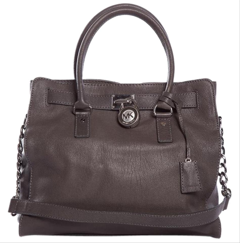 michael michael kors hamilton handbag gray satchel satchels on sale. Black Bedroom Furniture Sets. Home Design Ideas
