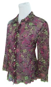 Christian Lacroix Vintage Button Down Shirt Multicolor