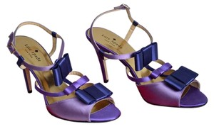Kate Spade Made In Italy Satin Strappy Purple Sandals
