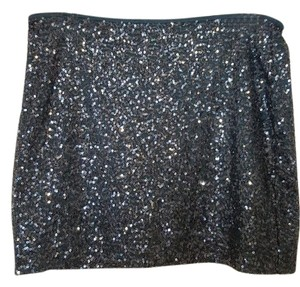Express Mini Sequin Party Sparkle Mini Skirt green