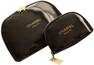 Chanel NWOT Chanel Set of 2 (Large and Small) Snowflake Cosmetic Bags
