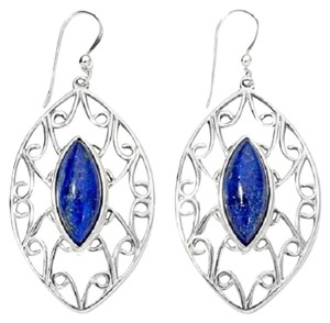 Mine Finds by Jay King Jay King Marquise-Shaped Lapis Sterling Silver Earrings